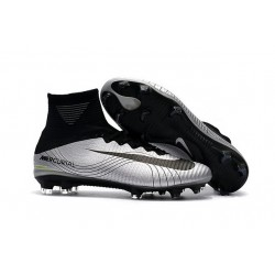 Scarpe Calcio Nike Mercurial Superfly V Dynamic Fit FG - Metallico Nero