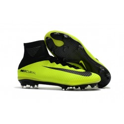Nike Mercurial Superfly V Dynamic Fit FG Scarpe Da Calcetto - Verde Nero