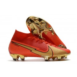 Scarpe da Calcio Nike Mercurial Superfly 7 Elite FG CR100 Rosso Oro