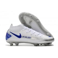 Nike 2021 Phantom GT Elite DF FG - Bianco Blu